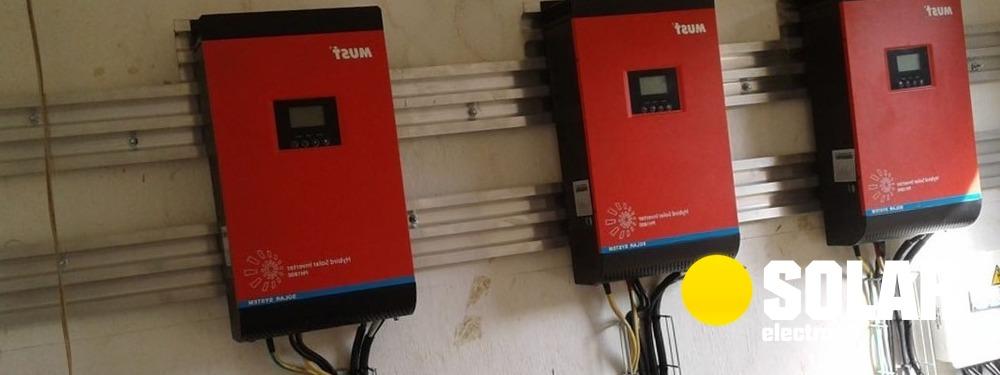 Інвертор для сонячних батарей 3 кВт, ціна встановлення